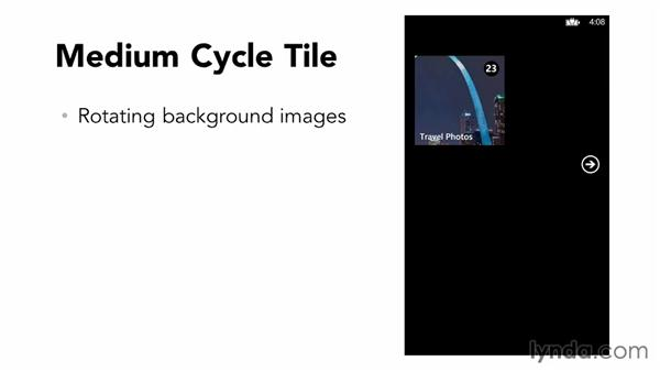 What is the cycle tile?: Building Windows Phone 8 Live Tiles