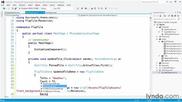 Creating a basic flip tile: Building Windows Phone 8 Live Tiles