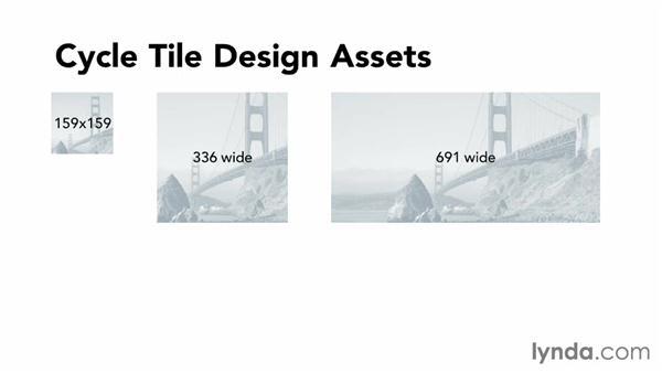 Building design assets for cycle tiles: Building Windows Phone 8 Live Tiles