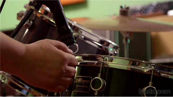Miking snare drums: Music Production Secrets: Larry Crane on Recording