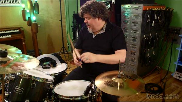Treating snare drums for alternate sounds: Music Production Secrets: Larry Crane on Recording