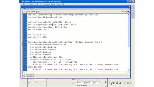using gradient fills: ActionScript 2.0 Beyond the Basics