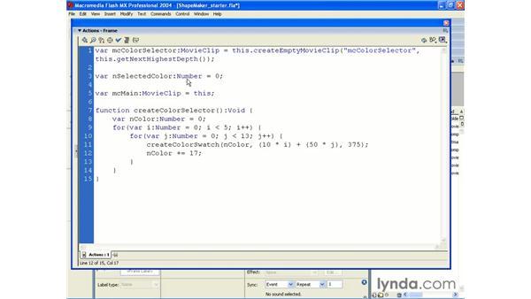 shape maker pt 1: ActionScript 2.0 Beyond the Basics