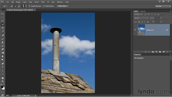 Inverting a selection: Photoshop CC Selections and Layer Masking Workshop