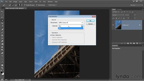 Saving and loading selections: Photoshop CC Selections and Layer Masking Workshop