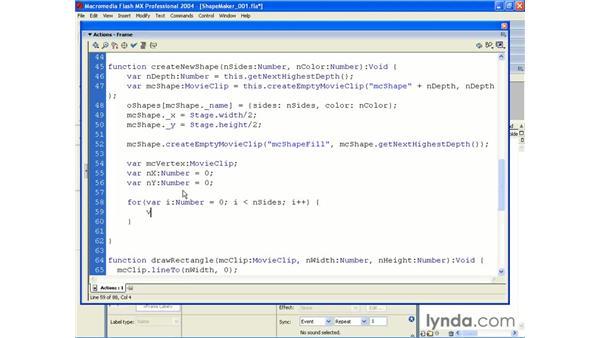 shape maker pt 2: ActionScript 2.0 Beyond the Basics