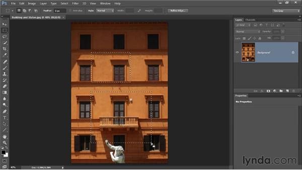 The Rectangular Marquee tool: Photoshop CC Selections and Layer Masking Workshop