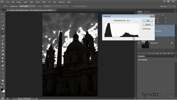 Selecting by luminosity: Photoshop CC Selections and Layer Masking Workshop