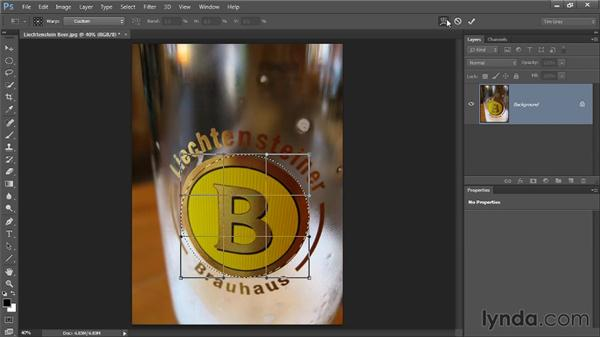 Transforming a selection: Photoshop CC Selections and Layer Masking Workshop