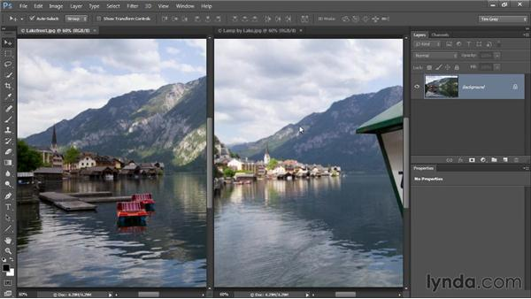 Layering images manually: Photoshop CC Selections and Layer Masking Workshop