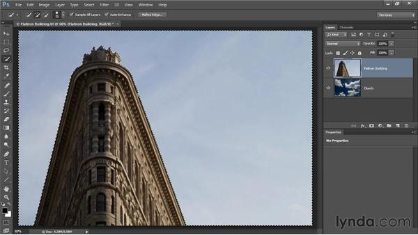Creating a selection-based composite: Photoshop CC Selections and Layer Masking Workshop