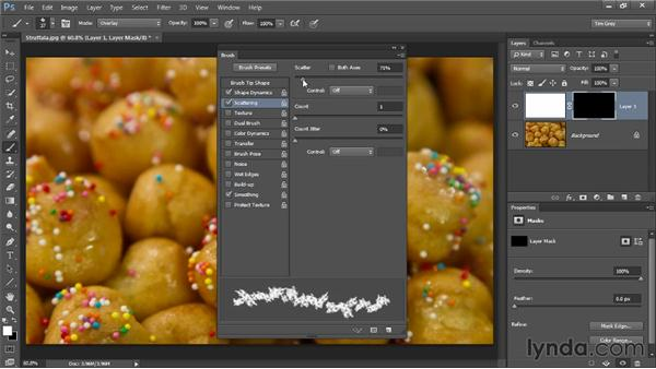 Using a brush effect to add an artistic edge: Photoshop CC Selections and Layer Masking Workshop