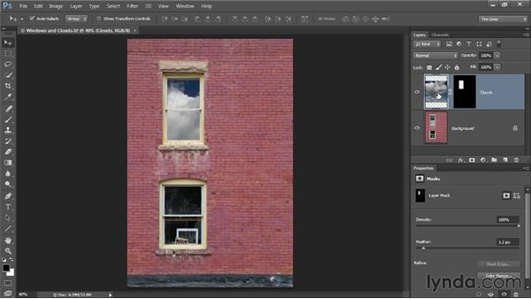 Unlinking image and mask: Photoshop CC Selections and Layer Masking Workshop
