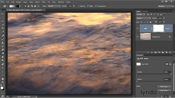 Using the Gradient tool: Photoshop CC Selections and Layer Masking Workshop