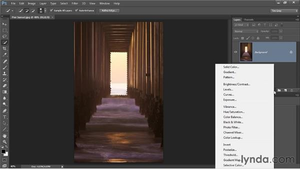 Adjusting a selected area: Photoshop CC Selections and Layer Masking Workshop