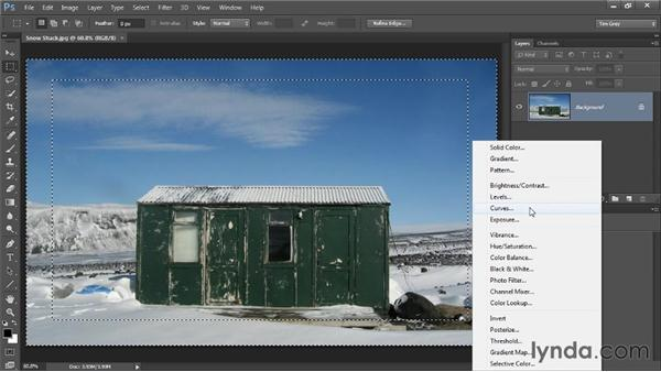 Creating a vignette effect with masking: Photoshop CC Selections and Layer Masking Workshop