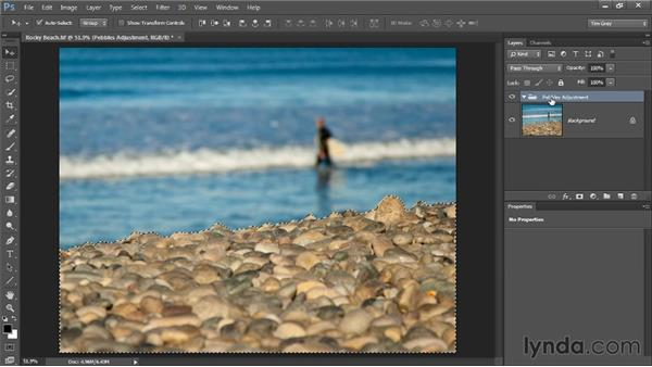 Using a layer group: Photoshop CC Selections and Layer Masking Workshop