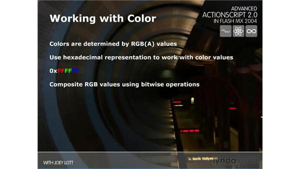working with color: ActionScript 2.0 Beyond the Basics