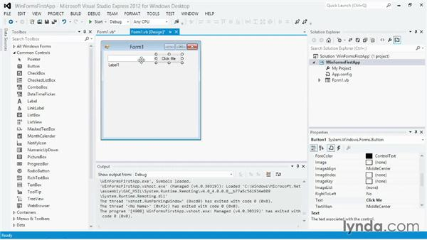 Building a simple desktop application with Windows Forms
