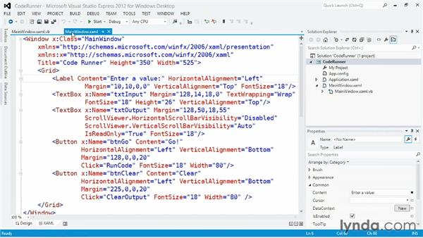 Using Visual Basic documentation: Visual Basic Essential Training
