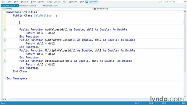 Storing data with instance fields: Visual Basic Essential Training