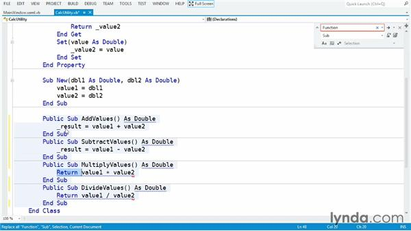 Sharing data from classes with read-only properties: Visual Basic Essential Training