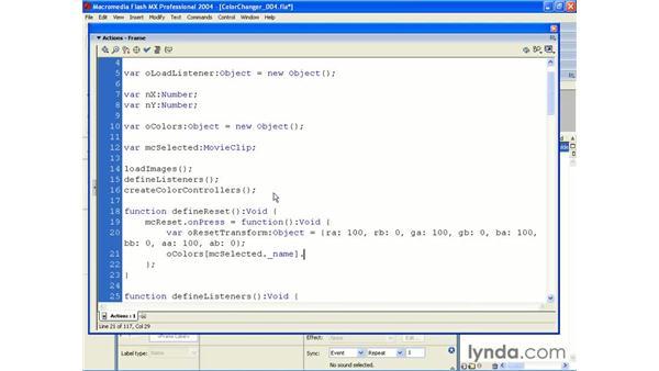 color changer pt 5: ActionScript 2.0 Beyond the Basics