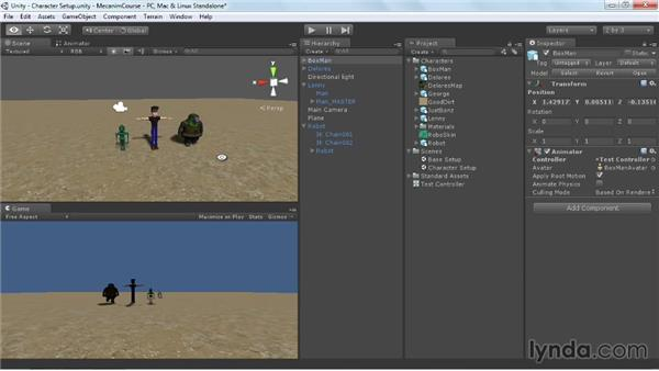 Setting up the controller: Animating Characters with Mecanim in Unity 3D