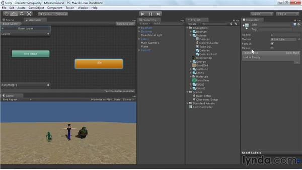 Adding a walk state to the controller: Animating Characters with Mecanim in Unity 3D