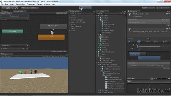 Defining input parameters: Animating Characters with Mecanim in Unity 3D
