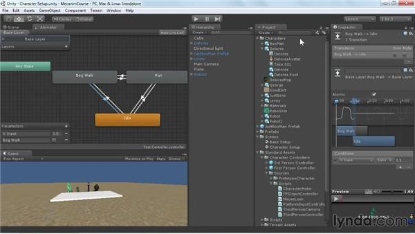 Working with additional parameters: Animating Characters with Mecanim in Unity 3D