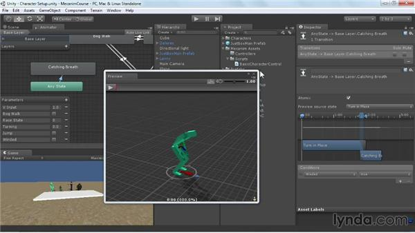 Using the Any state: Animating Characters with Mecanim in Unity 3D
