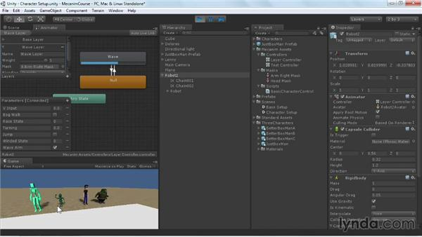 Layers in the Animation Controller: Animating Characters with Mecanim in Unity 3D