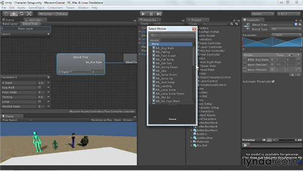 Configuring Blend Trees: Animating Characters with Mecanim in Unity 3D