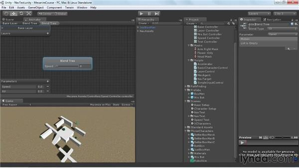 Refining the PathFinding (Unity Pro only): Animating Characters with Mecanim in Unity 3D