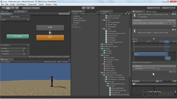 Adding a multistate jump: Animating Characters with Mecanim in Unity 3D