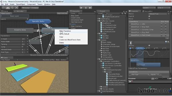 Interacting with objects: Animating Characters with Mecanim in Unity 3D
