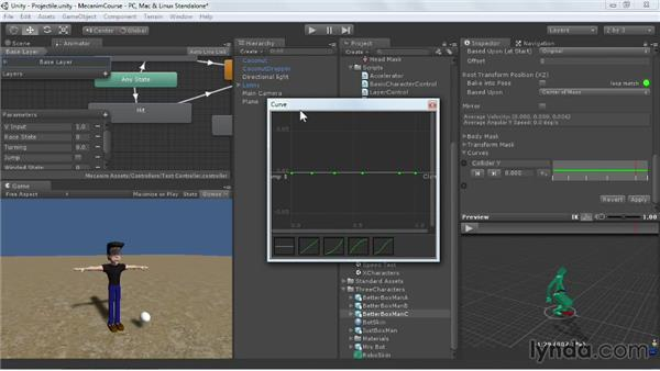 Working with curves: Animating Characters with Mecanim in Unity 3D