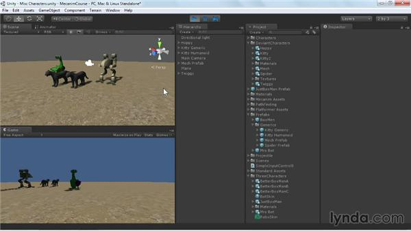 Making miscellaneous character adjustments: Animating Characters with Mecanim in Unity 3D