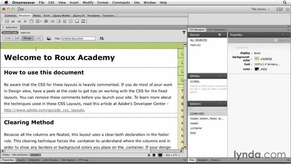 Managing starter pages: Dreamweaver CC Essential Training