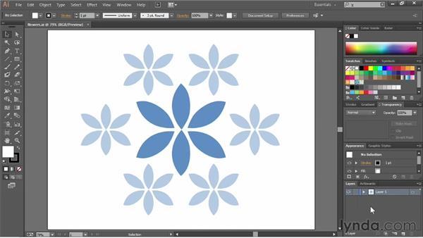 Exploring the panels: Illustrator CC Essential Training (2013)