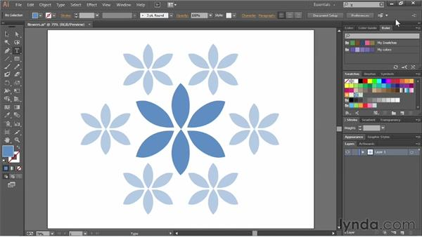 Working with the Control panel: Illustrator CC Essential Training (2013)