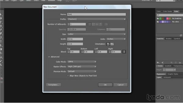 Creating files for print: Illustrator CC Essential Training (2013)