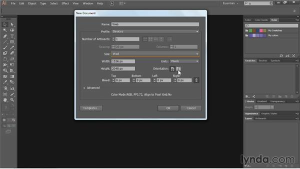 Creating files for the web: Illustrator CC Essential Training (2013)