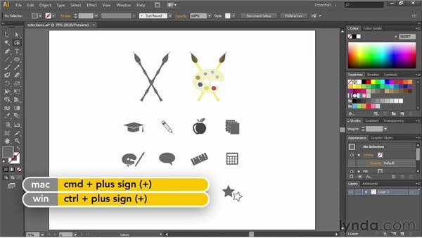 Using the Lasso tool: Illustrator CC Essential Training (2013)