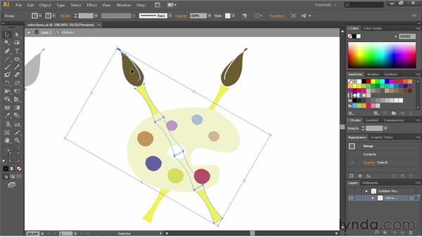 Using isolation mode: Illustrator CC Essential Training (2013)