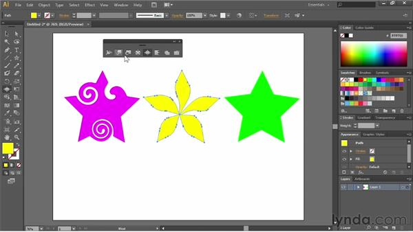 Distorting and transforming objects: Illustrator CC Essential Training (2013)