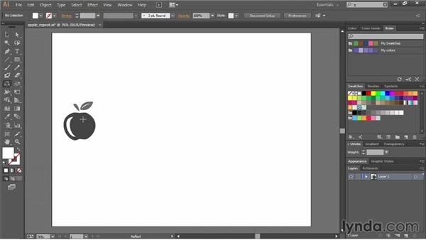 Reflecting and skewing objects: Illustrator CC Essential Training (2013)