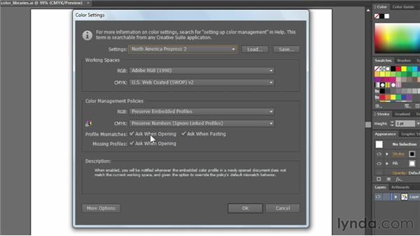 Adjusting Illustrator color settings: Illustrator CC Essential Training (2013)