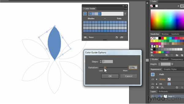 Using the Color Guide panel: Illustrator CC Essential Training (2013)
